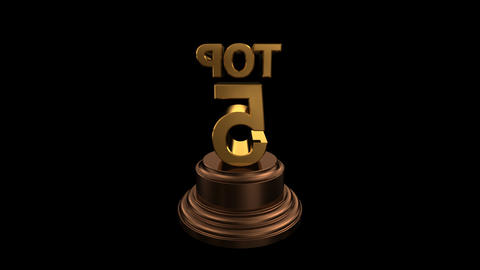 Number Trophy Top 05 HD Stock Video Footage
