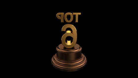Number Trophy Top 06 HD Stock Video Footage