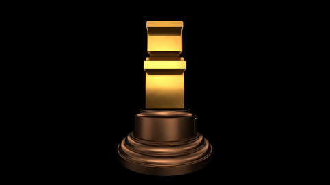 Number Trophy Top 10 HD Stock Video Footage