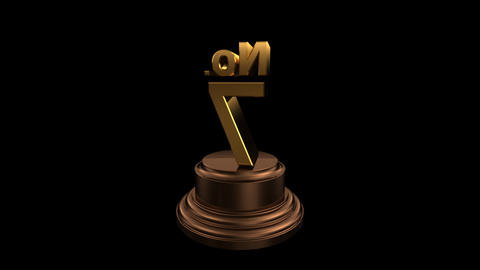 Number Trophy No 07-12C HD Stock Video Footage