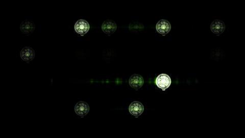 Floodlights flash Stock Video Footage