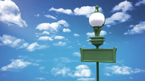 street lamp and blue sky Stock Video Footage