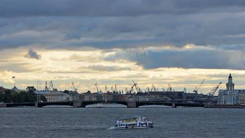 Admiralty Shipyard near Neva River Footage