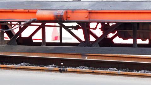 Platform for ballast tamper Stock Video Footage
