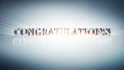 CONGRATULATIONS! Stock Video Footage