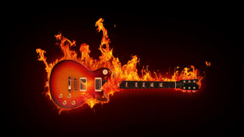 Fire guitar Animation
