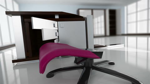 Office interior creation Stock Video Footage