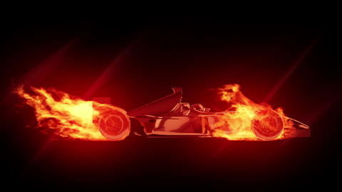 Fire race car Animation