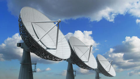 Array of satellite dishes Animation