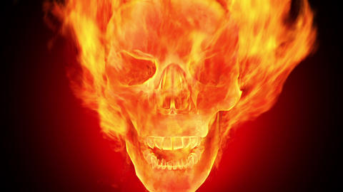 Fire skull, HD loop Animation