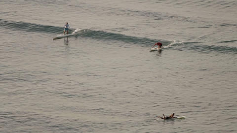 learning to surf part 2 Stock Video Footage