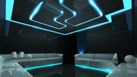 color led of Club Room Stock Video Footage
