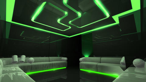 color led of Club Room Animation
