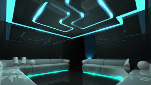 disco led light of Club Room, Stock Animation