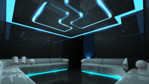 disco led light of Club Room Stock Video Footage