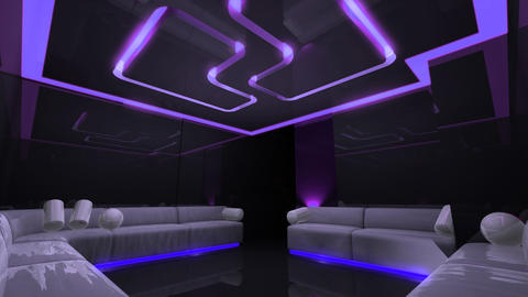 disco led light of Club Room Animation