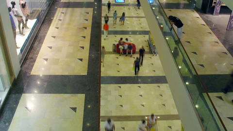 multilevel shopping mall, time lapse Stock Video Footage