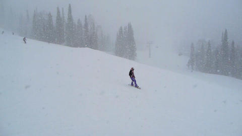 boarder girl in snow Stock Video Footage