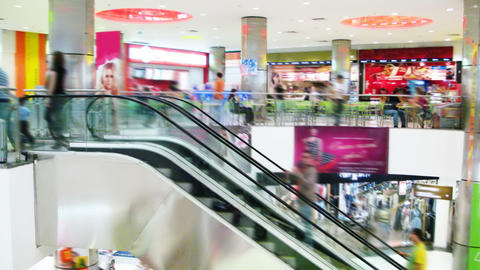 Shopping Mall Stock Video Footage