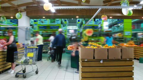 Food Market, timelapse Stock Video Footage