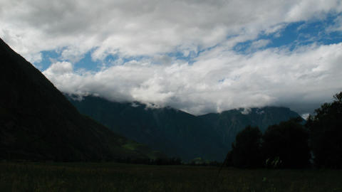 Fog and cloud at mountains, Teletskoe lake, Altai, Russia Stock Video Footage