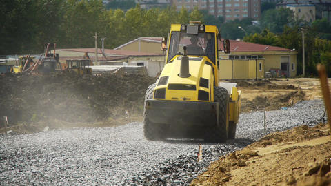 road construction Stock Video Footage