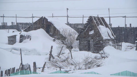 snowy house Stock Video Footage