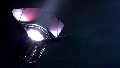 10639 background spotlight up smoke loop Stock Video Footage