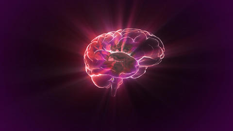 red brain rotate flare Animation