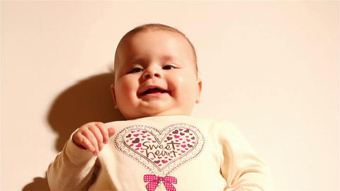 Baby 02 happy Footage
