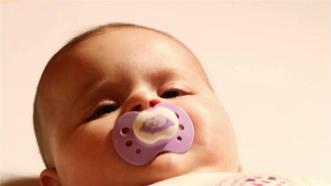 Baby 04 soother Stock Video Footage