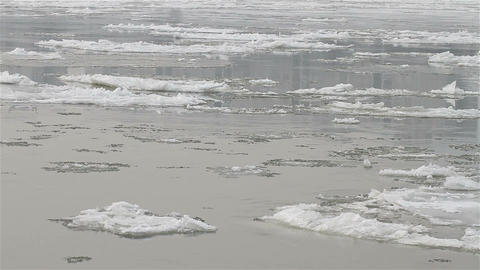 Ice on River 01 Stock Video Footage
