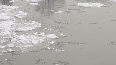 Ice on River 09 Stock Video Footage