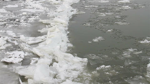 Ice on River 20 Stock Video Footage