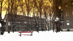 Snowy Suburb 16 stylized Stock Video Footage