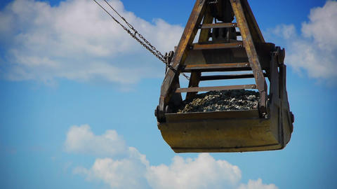 port crane working Stock Video Footage