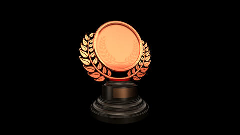 Medal Prize Trophy 03a HD Stock Video Footage