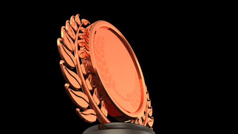 Medal Prize Trophy 03a HD Animation