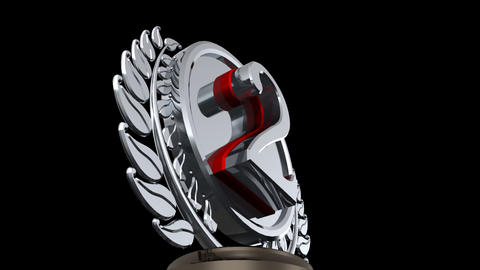 Medal Prize Trophy 02b HD Animation