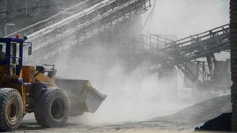 Loading ore rock Stock Video Footage