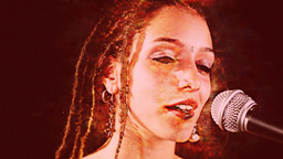 beautiful singer with dreadlocks Footage