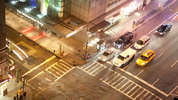 manhattan street scene traffic new york Footage