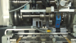 Packaging Machine On The Pharmaceutical Factory stock footage