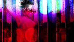sexy gogo dancer shot against a unique coloured chrome Footage