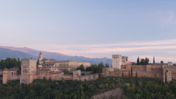 the alhambra granada, andalusia spain Footage