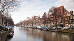 amsterdam canal city urban boats waterway europe Footage
