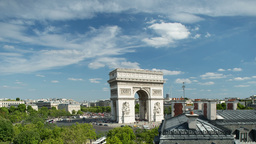 arc du triomphe paris france Footage