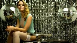 bar lounge sexy disco gogo female lingerie Footage