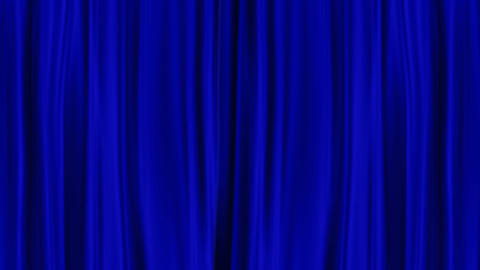 Blue Curtains Open, isolated on green screen Animation