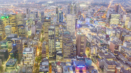 4k Timelapse Video Of A City From Day To Night stock footage